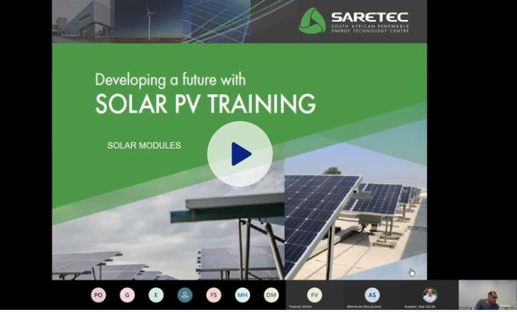 Online-Schulung für Solar-PV-Techniker in Südafrika. Foto:©TinoLuebeck