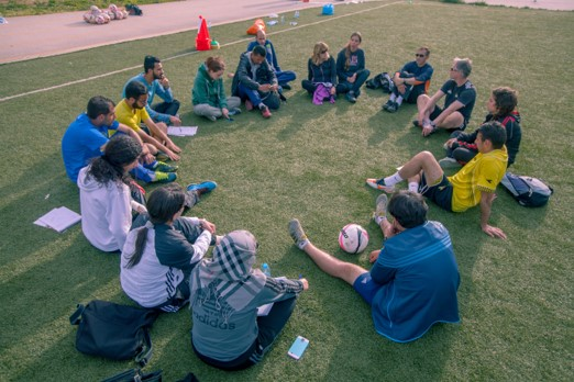 Coaches' reflection round: How do we put into practice what we have learnt?. Photo©Ashraf Dowani
