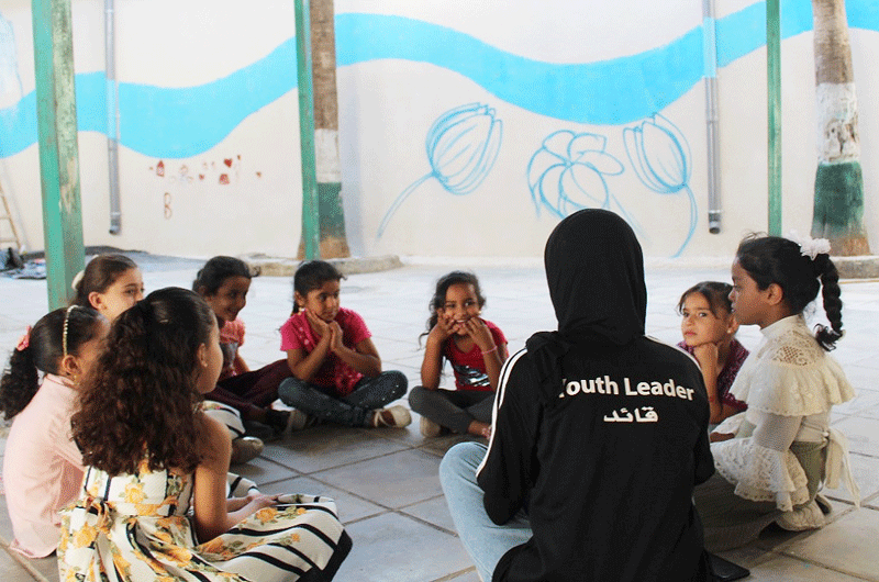Youth leaders also serve as role models. Photo©GIZ