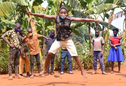 Dance Safe Games at the programme 'Game connect' in Uganda. Photo© AVSI Foundation