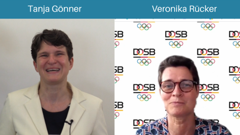 The event was opened with greetings from Tanja Gönner, Chair of the Management Board of the Deutsche Gesellschaft für Internationale Zusammenarbeit (GIZ) and Veronika Rücker, Chairperson of the German Olympic Sports Confederation (DOSB), who both expressed that sport is a unique way to reach marginalized children and youth in partner countries. Photo©GIZ