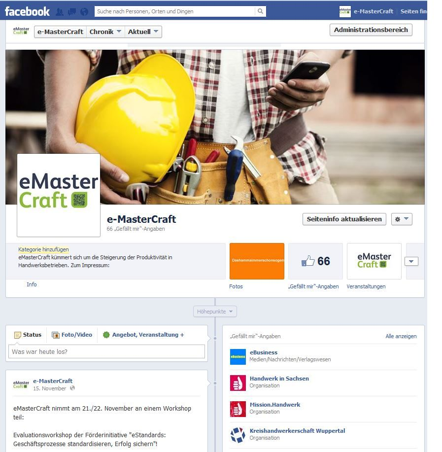 eMasterCraft auf Facebook