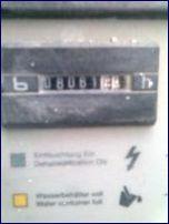 Stromzählerstand eines Baustellenentfeuchters