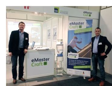 Jan Löffler und Michael Heil am eMasterCraft-Messestand