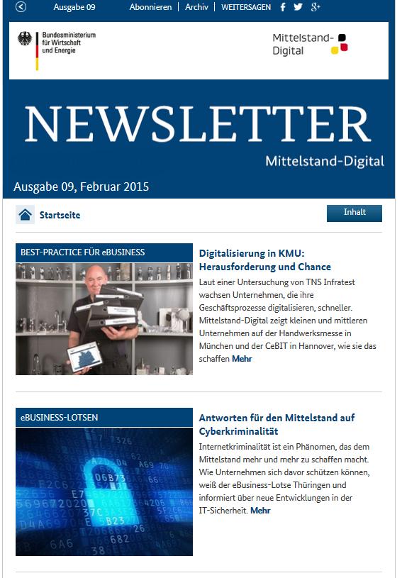 Newsletter Mittelstand-Digital Februar 2015
