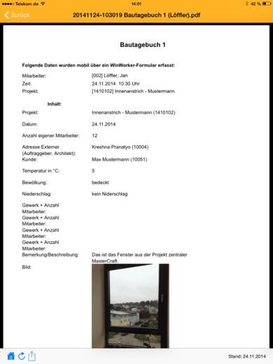 Screenshot Formular