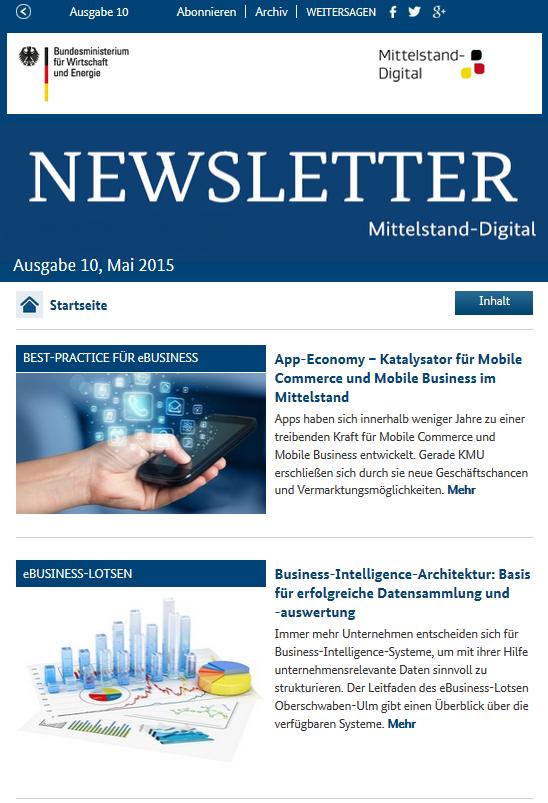 Newsletter Mittelstand-Digital