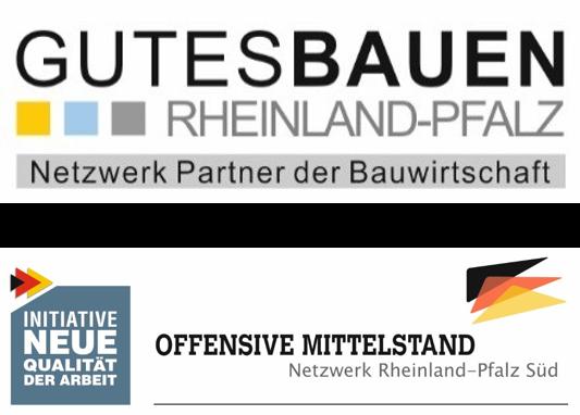 Logos Gutes Bauen RP und Offensive Mittelstand RPS