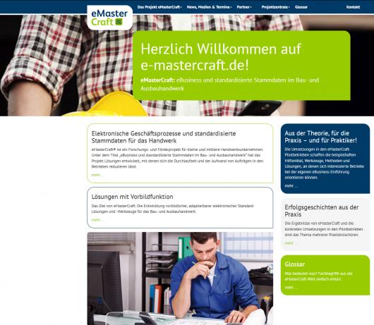 Screenshot eMasterCraft-Homepage