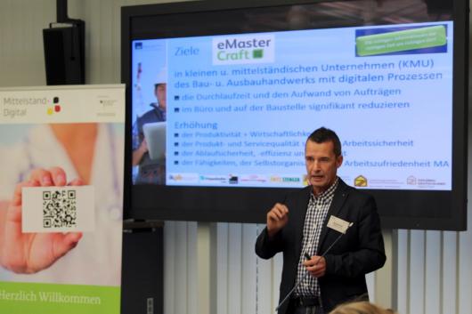 Michael Heil auf dem Evaluationsworkshop zur Förderinitiative eStandards am 24./25. November 2015