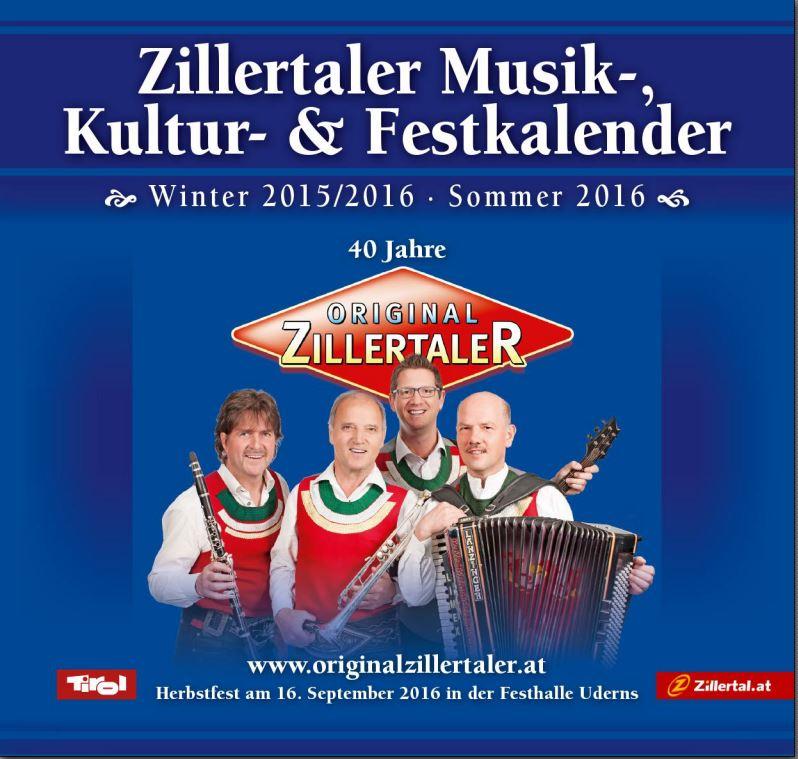 Zillertaler Musik- und Festkalender